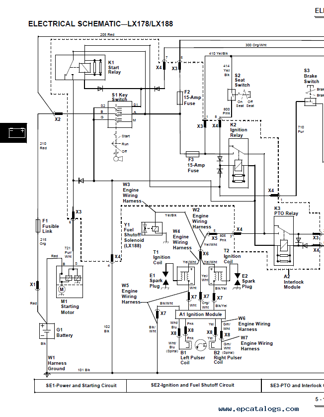 John Deere Lx172 Wiring Harness Diagram | Wiring Diagram on