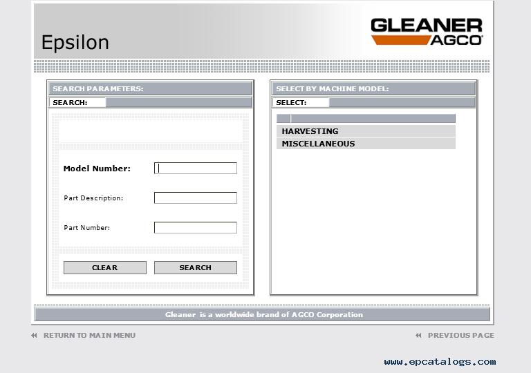 Epsilon agco gleaner parts and service information 2017 publicscrutiny Images