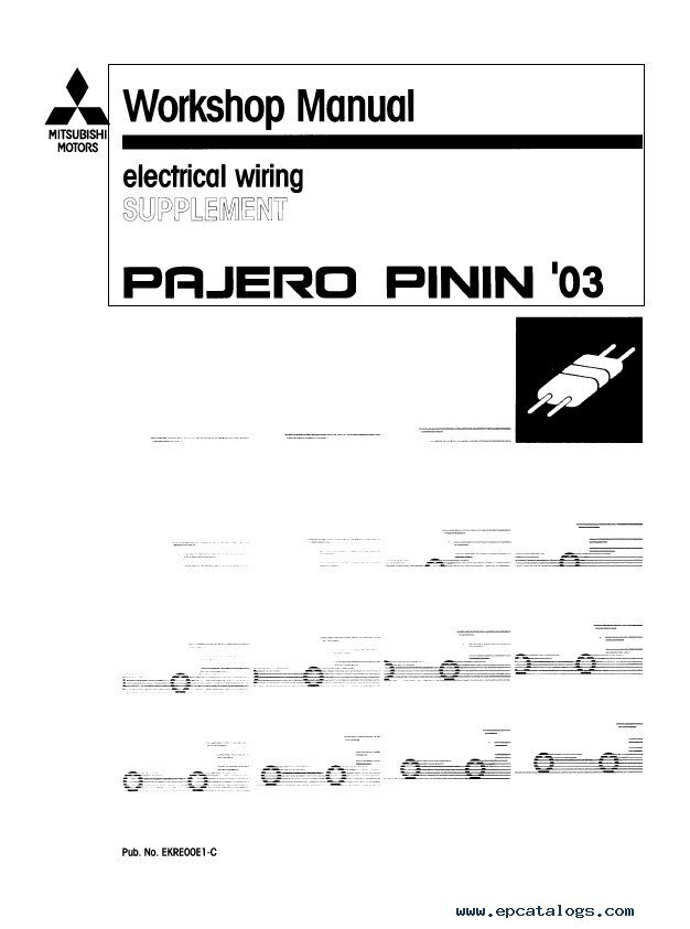 mitsubishi pajero pinin workshop manuals pdf mitsubishi pajero tow bar wiring diagram efcaviation com pajero electrical wiring diagram at creativeand.co