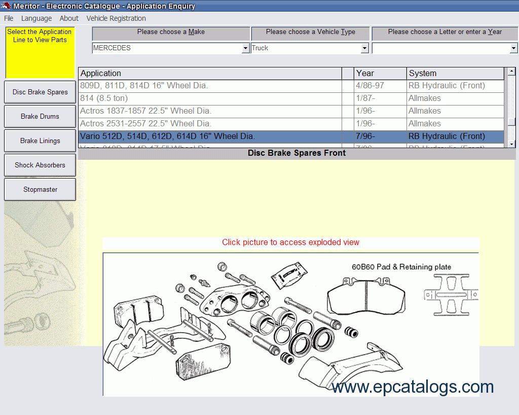 Meritor Axle Parts Catalog : Meritor ror cva