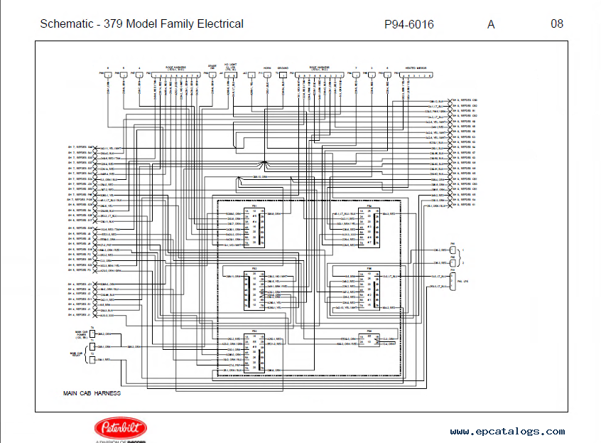 peterbilt truck 379 model family electrical schematic manual pdf peterbilt wiring schematic 2004 peterbilt 379 wiring diagram International Prostar Front Grill at bayanpartner.co