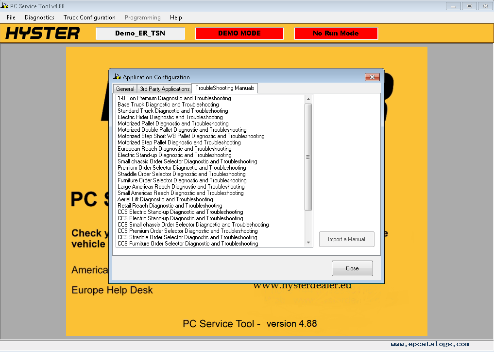 Hyster Pc Service Tool V4 95  Pcst  2020
