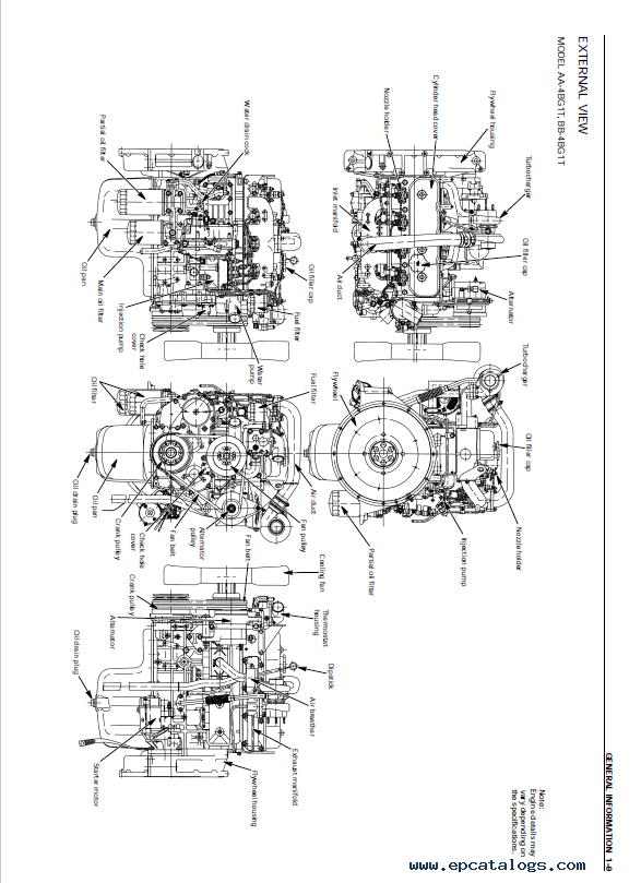 jcb isuzu diesel engine aa
