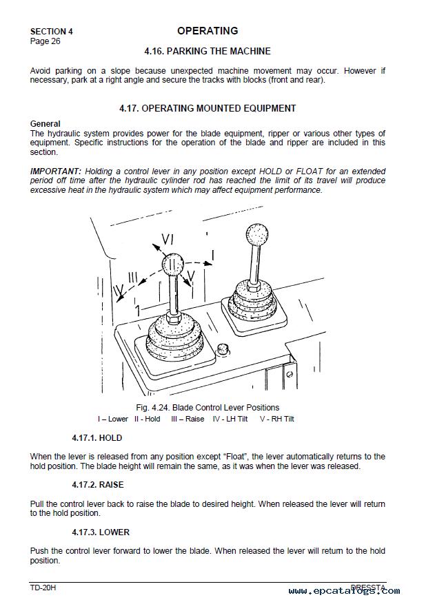 Komatsu TD-20H with M11 Series Engine Operators Manual PDF