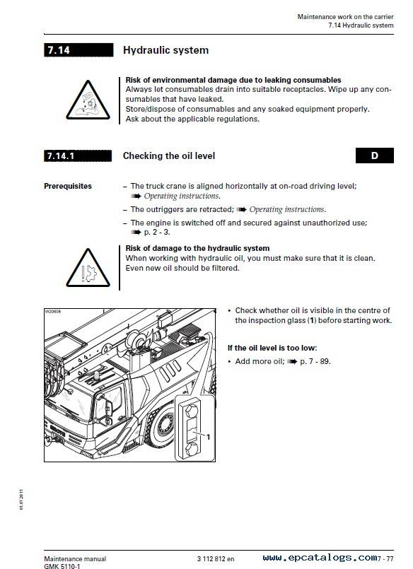 Download Grove Truck Crane GMK 5110-1 Maintenance PDF