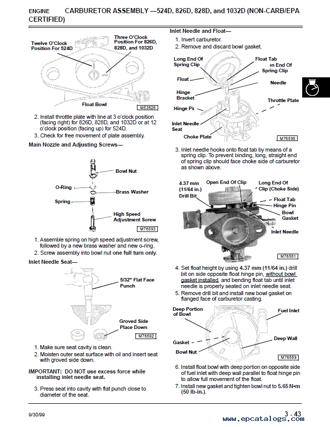 Repair Manual John Deere 524d 724d 826d 828d 1032d Walkbehind: Wire Diagram John Deere 1032 At Hrqsolutions.co