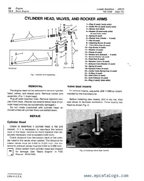 John Deere Jd Loader Backhoe Tm Technical Manual Pdf