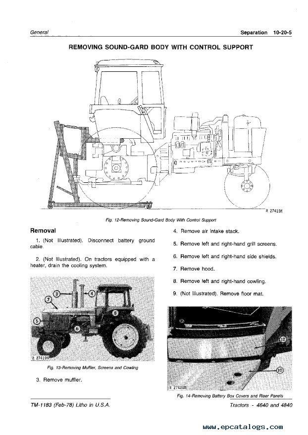 john deere 4640 4840 tractors technical manual tm1183 pdf enlarge repair manual john deere 4640 4840 tractors technical manual tm1183 pdf 2 enlarge