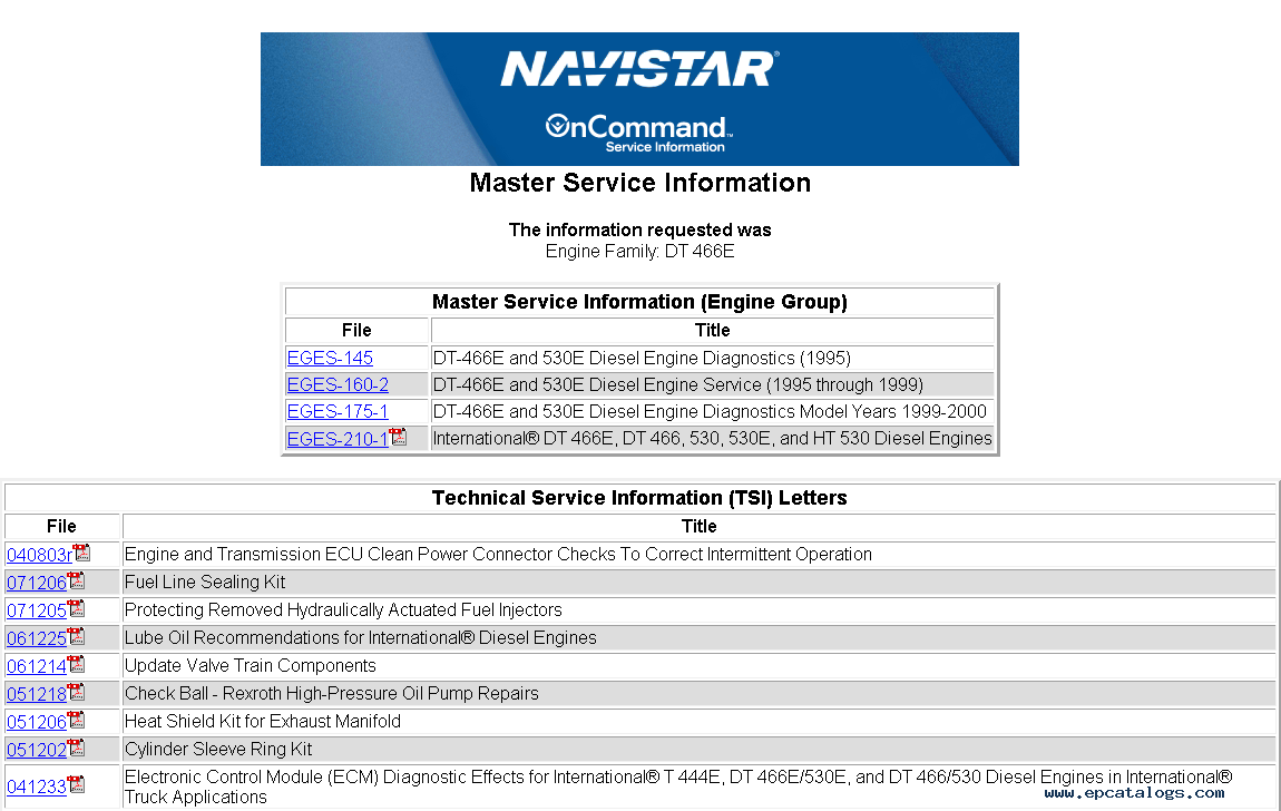 repair manual International Truck ISIS - OnCommand Service Information 2014  - 1