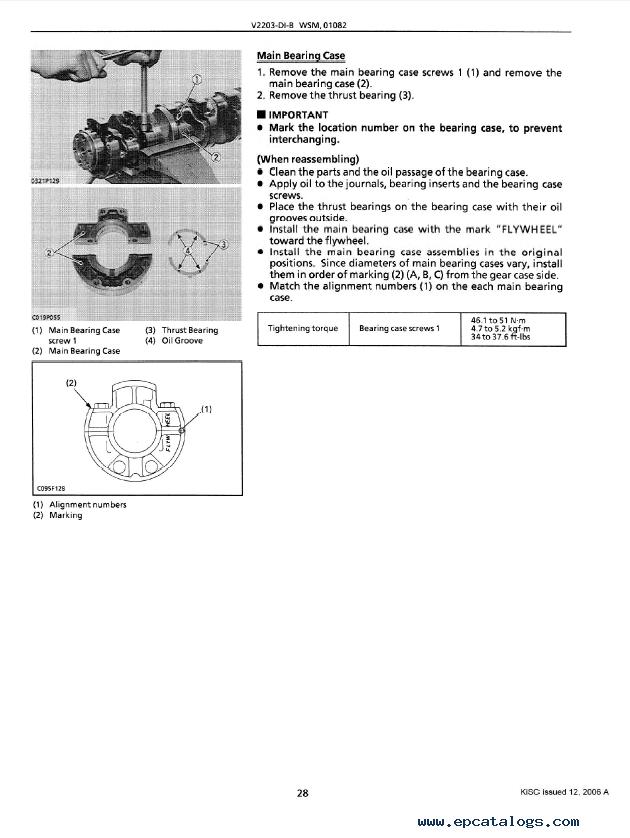 kubota v2203 di b diesel engine workshop manual pdf rh epcatalogs com kubota workshop manual free kubota workshop manual m5400