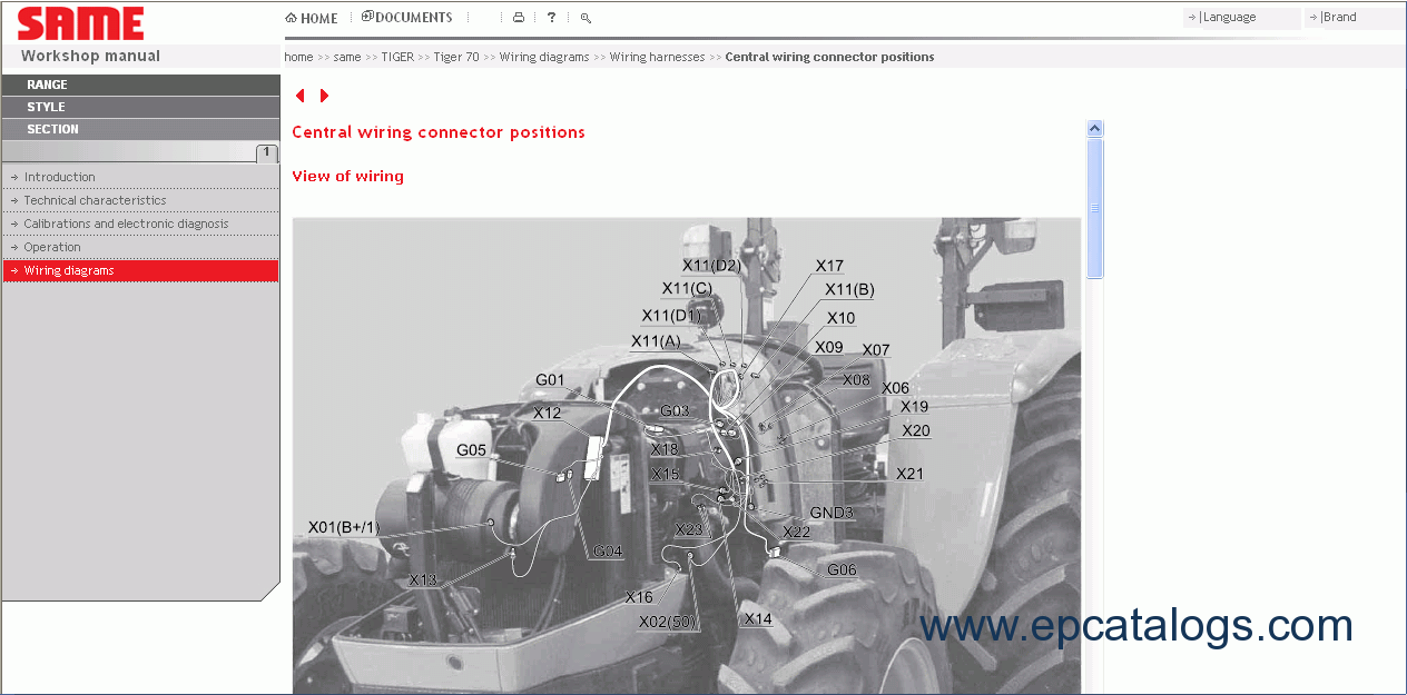 Same Sdf E Parts 2012 Repair Manual Spare Catalog Download Barrett Wiring Diagram 8