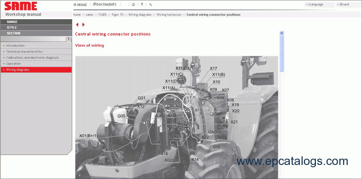 same sdf e parts repair and service manuals download rh epcatalogs com Same Corsaro 70 Parts John Deere Tractor Parts Online