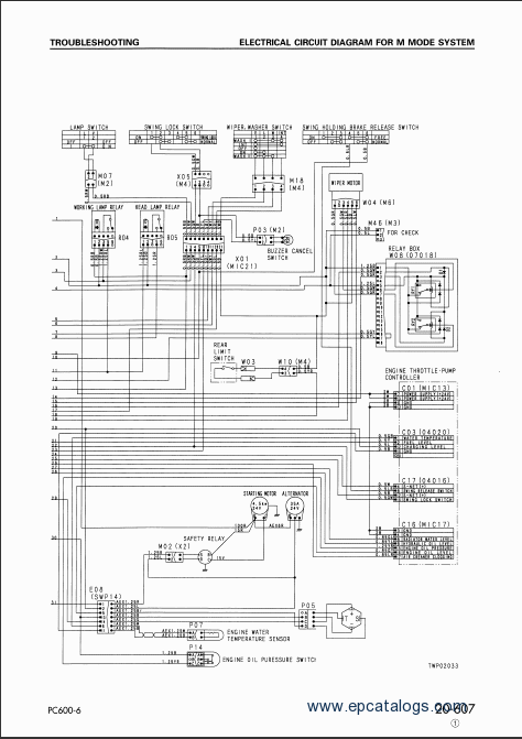 komatsu excavator pc600-7k, pc600lc-7k workshop manual diagram of a 2001 buick regal cooling system 3800 engine