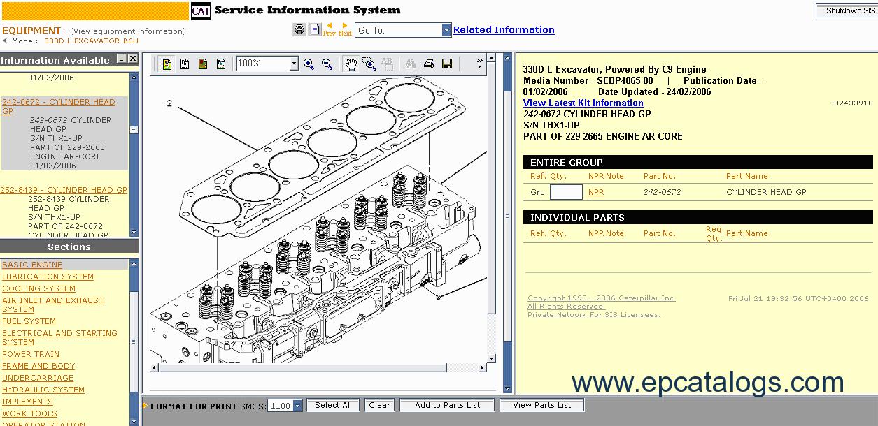 Cat 3054c Engine Service Manual