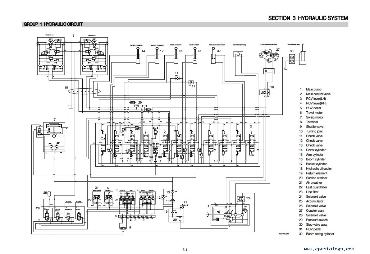 repair manual Hyundai R55-7 Crawler Excavator Service Manual - 3