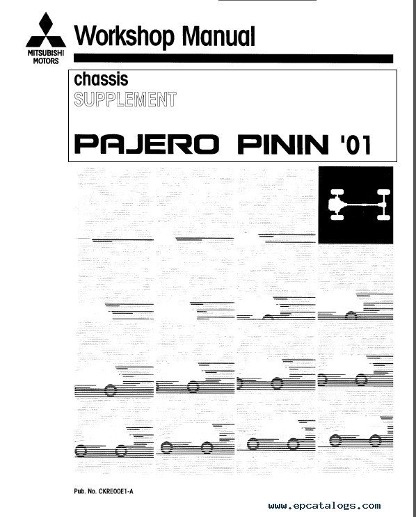 mitsubishi pajero pinin workshop manuals pdf rh epcatalogs com Mitsubishi Shogun Pinin Coast Secon Hand mitsubishi pajero pinin 2.0 gdi workshop manual