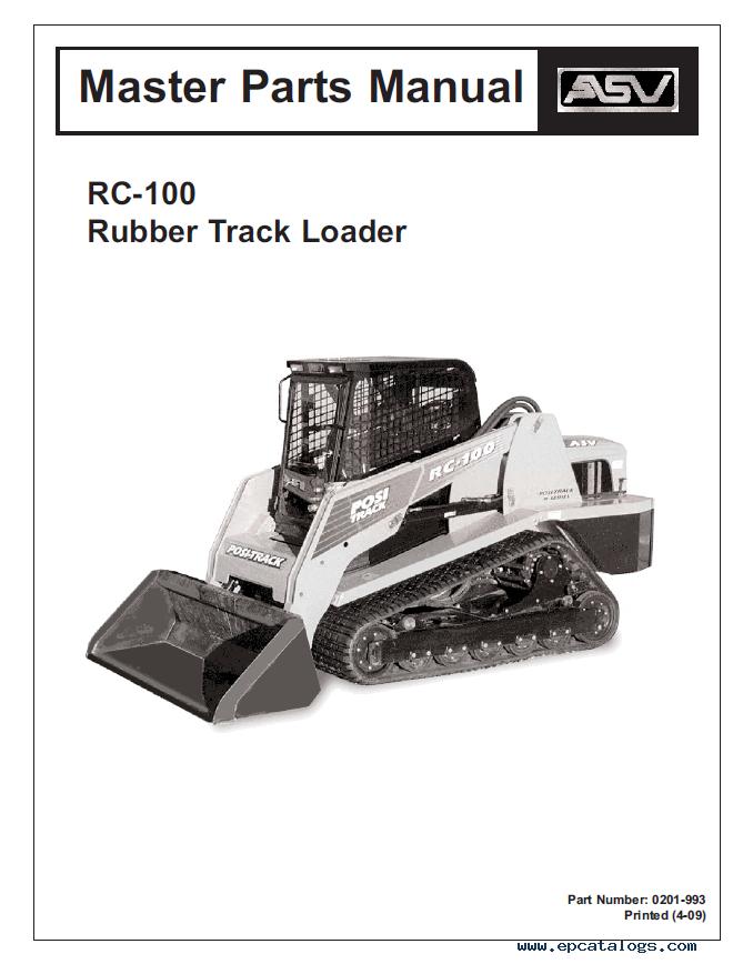 ASV RC-100 Service And Parts Manuals