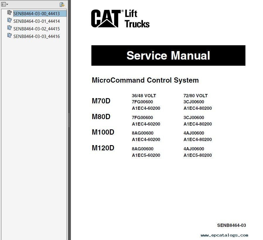 caterpillar md md md md forklifts service manual pdf repair manual caterpillar m70d m80d m100d m120d forklifts service manual pdf 1 enlarge