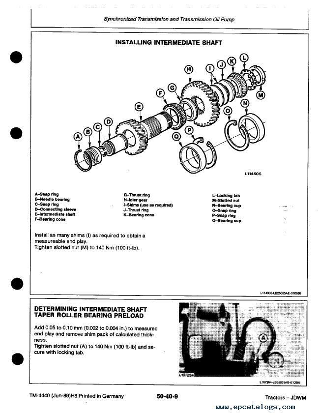 john deere 2250 2450 2650 2650n 2850 tractor tm4440 pdf rh epcatalogs com john deere 2250 manual john deere 2550 manual hydraulic system