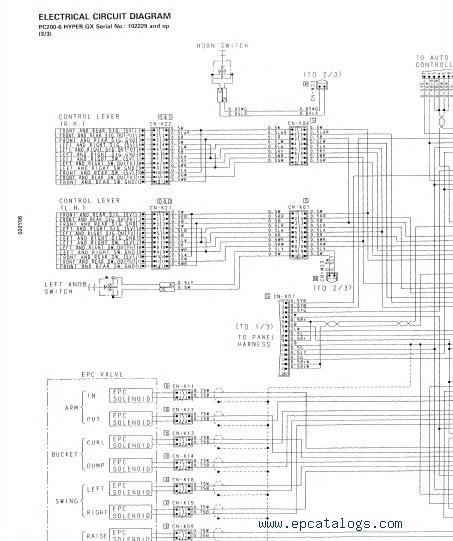 komatsu pc200 210 220 230 240 250 lc 6 hydraulic excavators pdf rh epcatalogs com Komatsu Wiring-Diagram Master Switch Caterpillar Wiring Diagrams