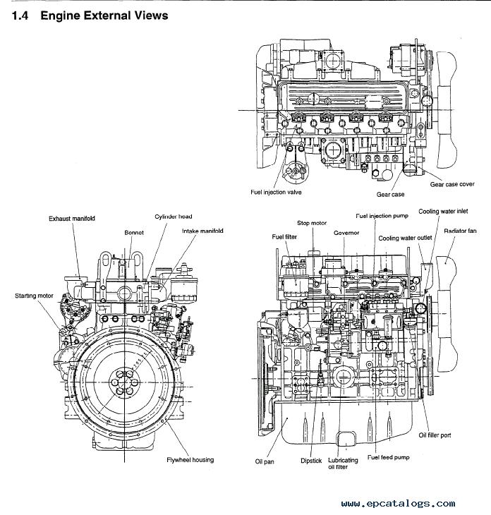 komatsu diesel engine 4d98e  4d106  s4d106 series shop