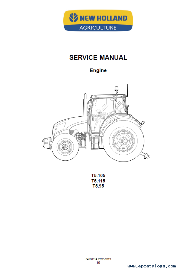 New Holland Tractor Manuals : New holland t tractor service manual pdf