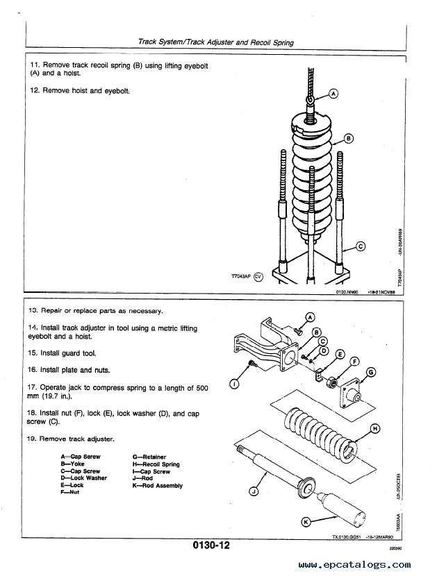 john deere 490 excavator repair operation test tm1302 pdf rh epcatalogs com John Deere La150 Manual John Deere Lawn Tractor Manuals