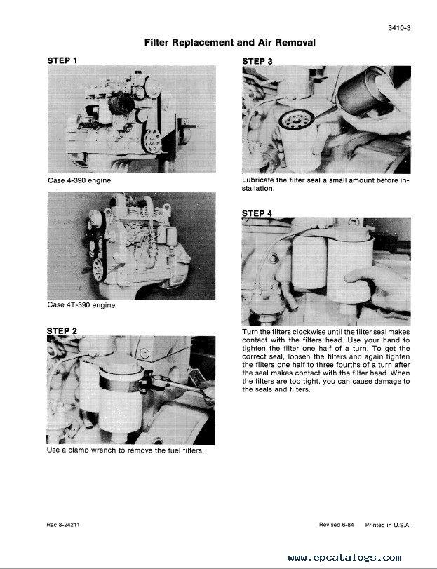 Case CDC Engine Service Manual PDF Download