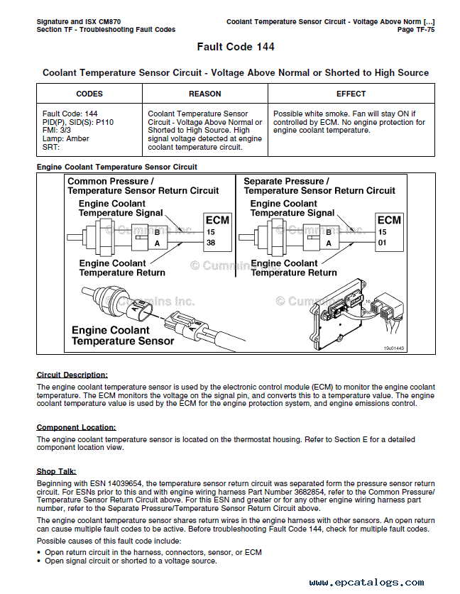 cummins electronic control system signature isx and qsx engines enlarge