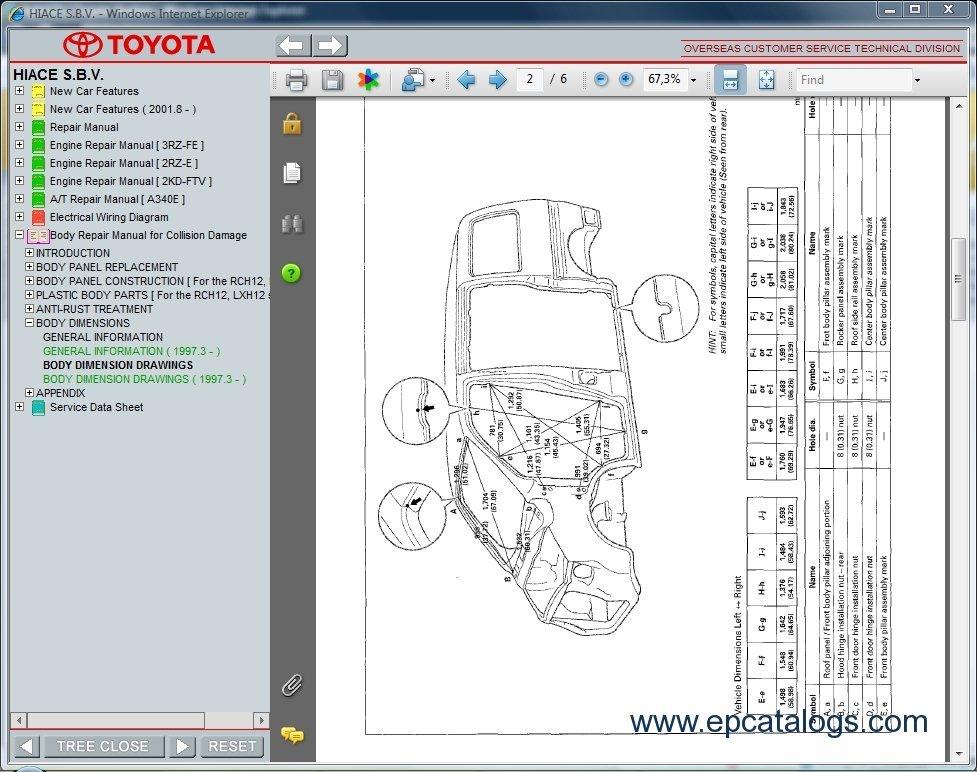 Toyota Hiace S B V   Repair Manual  Cars Repair Manuals