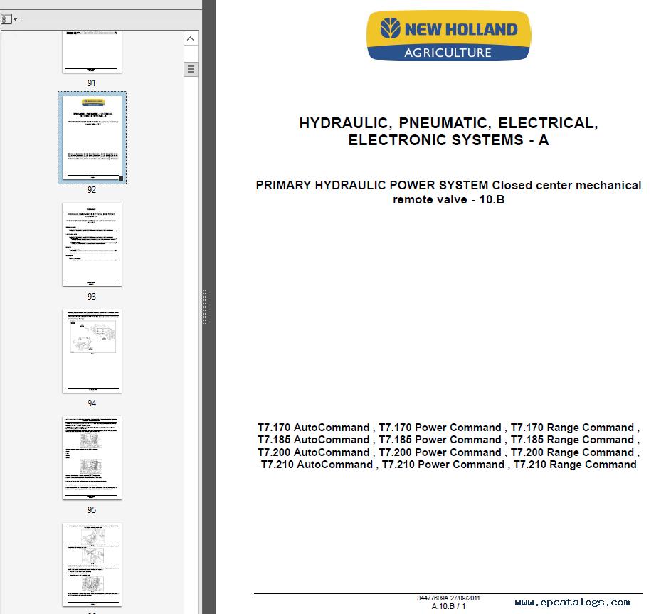 repair manual New Holland T7 Series Tractors Service Manual PDF - 5
