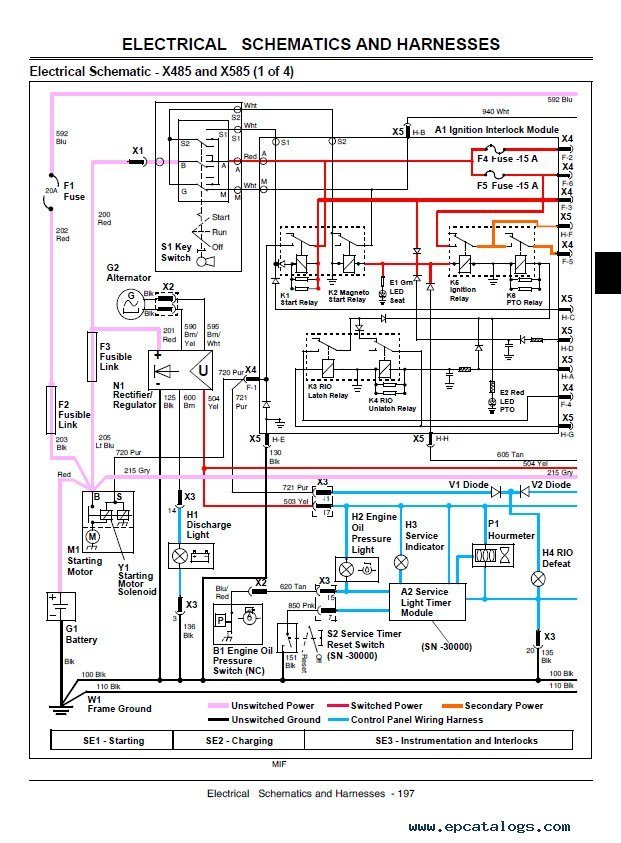 john deere x465 x475 x485 x575 x585 lawn garden tractor service manual pdf x485 wiring diagram x485 parts \u2022 wiring diagram database limouge co john deere x485 wiring diagram at gsmx.co