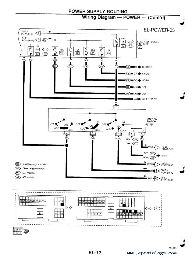 Wiring Diagram Nissan Primera P11 : Nissan primera wiring diagram manual trusted