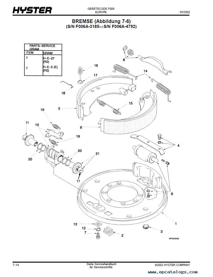 hyster challenger  f006  h6 00xl h7 00xl parts manual pdf