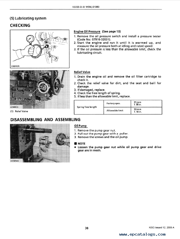 Kubota V2203-DI-B Diesel Engine Workshop Manual PDF 9Y011-01082