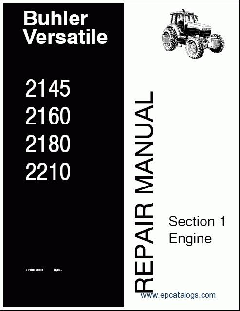 Buhler Versatile Service Manual 2145