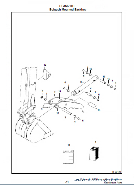 Bobcat Backhoes Rear Stabilizers Volume 1 Attachments Parts Manual Pdf