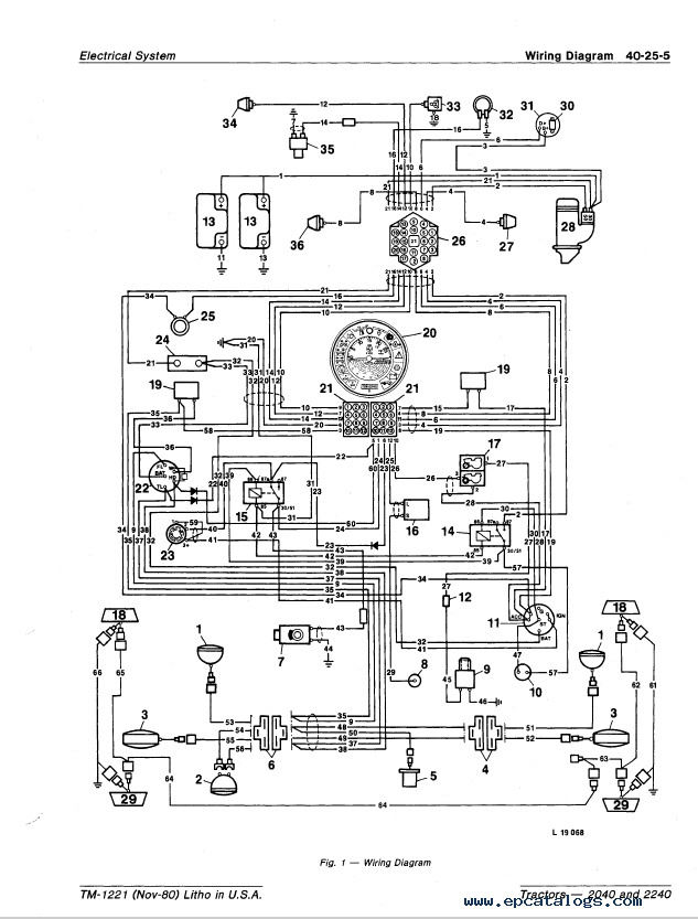 john deere 2040 2240 tractor tm1221 technical manual pdf john deere 2040 wiring diagram john deere ignition switch diagram kokusan denki cdi wiring diagram at aneh.co
