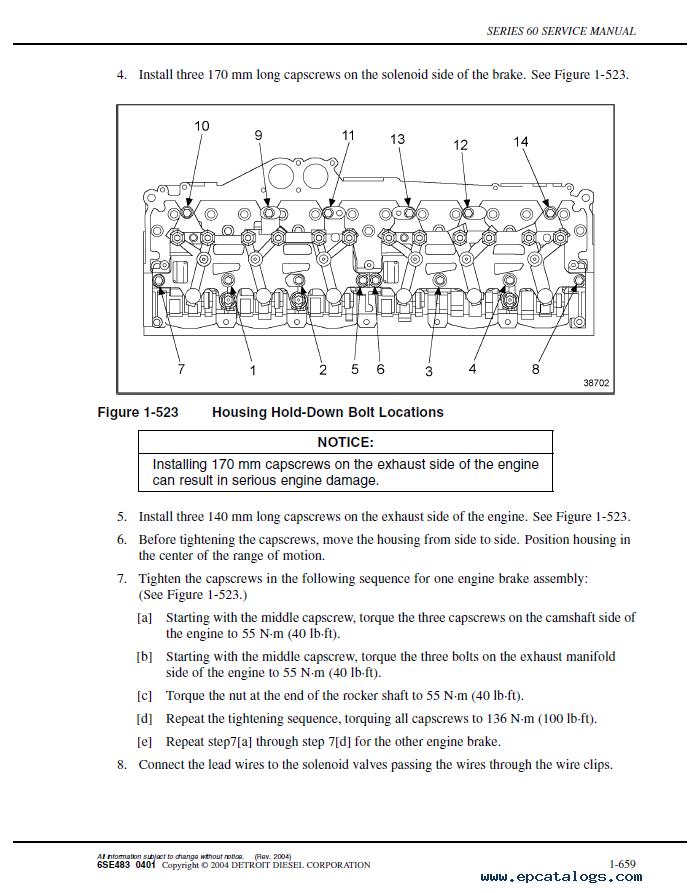 Detroit Diesel Series 60 Diesel / Natural Gas-Fueled / Diesel Marine  Engines Service Manual PDF