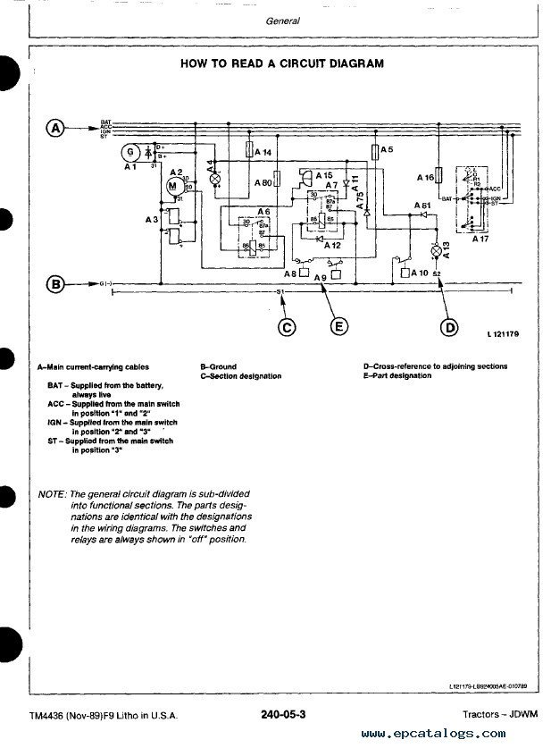 john deere tractors tm4436 technical manual pdf rh epcatalogs com John Deere 112 Electric Lift Wiring Diagram John Deere Tractor Wiring Diagrams