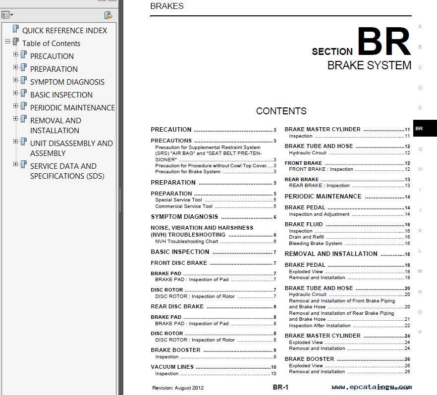nissan maxima model a35 series 2012 service manual pdf rh epcatalogs com 2013 nissan maxima service manual 2014 nissan maxima service manual pdf