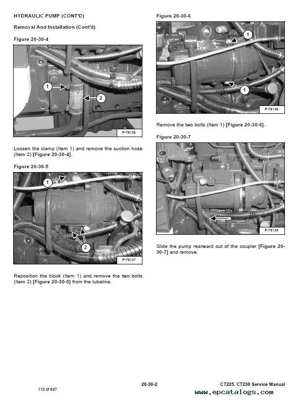 Bobcat Compact Tractors Ct225  Ct230 Service Manual Pdf