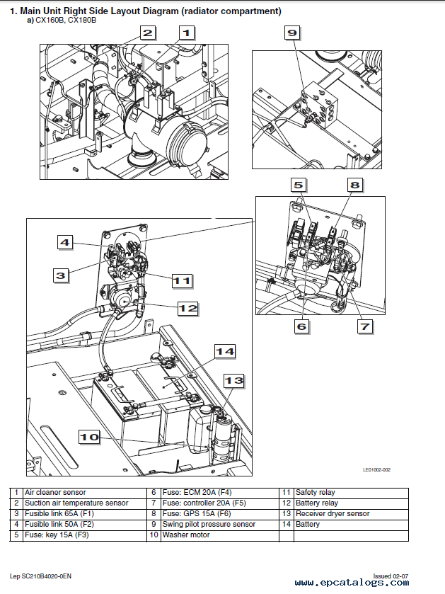 case cx290b crawler excavator service manual pdf