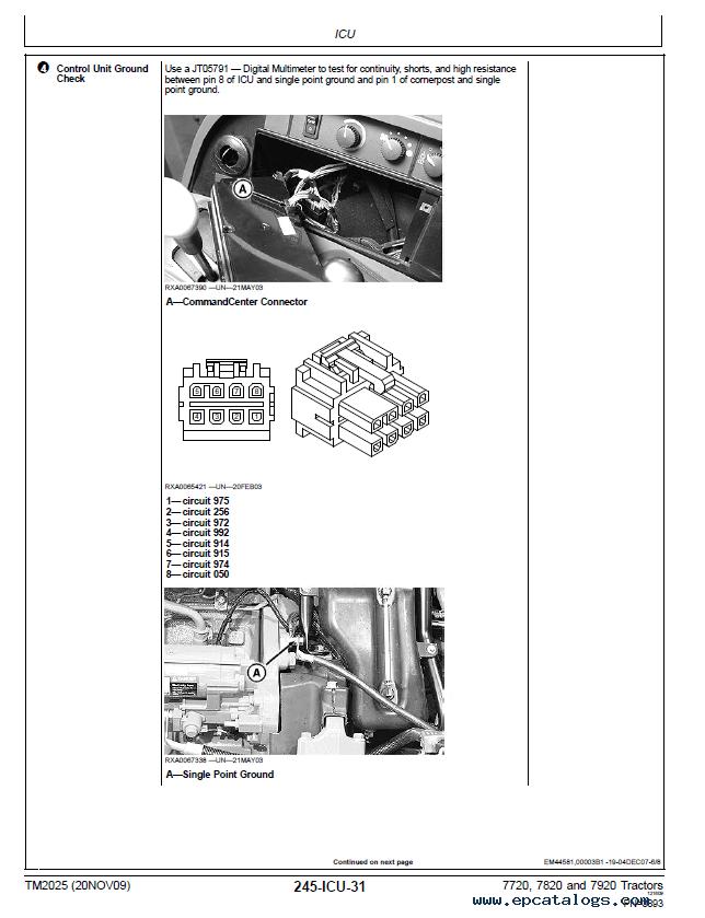 john deere 7820 service manual