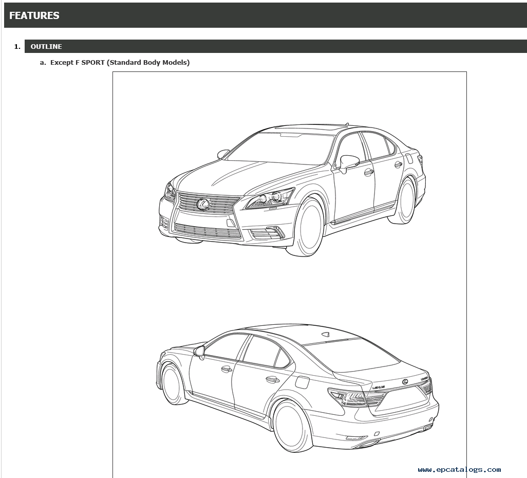 repair manual Lexus LS460 Repair Manual 09/2015 - 1