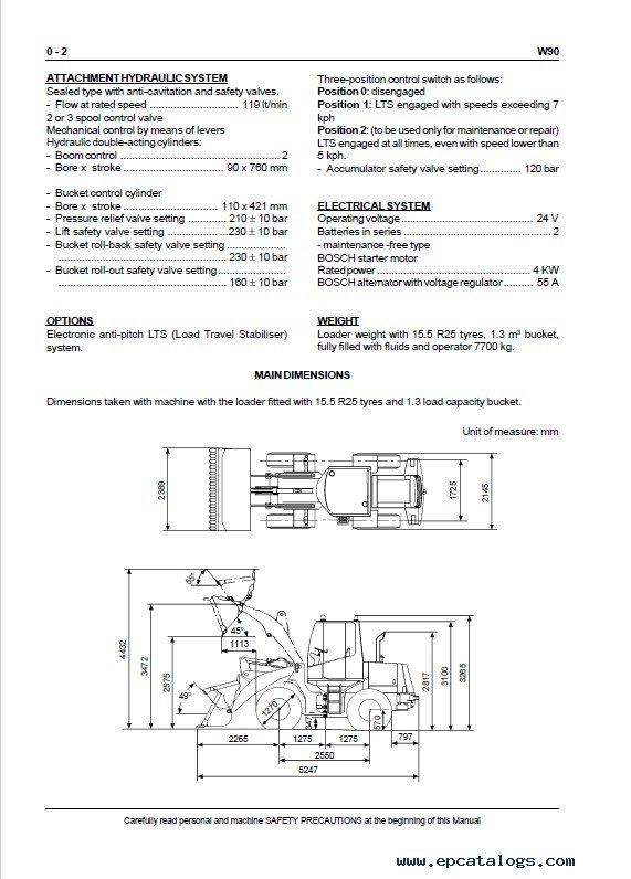 Fiat Kobelco W90 Wheel Loader Service Pdf Download Instant