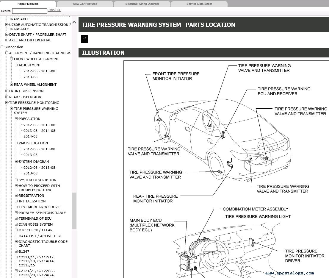 Lexus Es250 Es350 Service Manual 06 2012 06 2015 Download