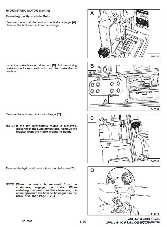 Bobcat 440  443  443b Loaders Service Manual Pdf