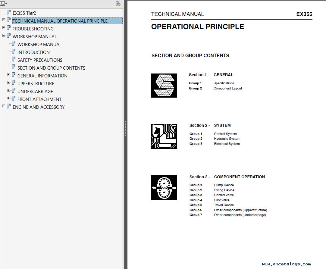 Fiat Kobelco EX355 Tier2 Excavator Workshop And Technical Manual PDF