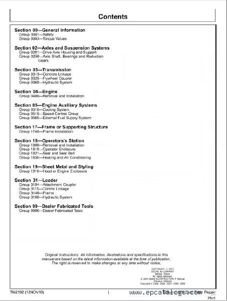 John Deere 325 manual pdf